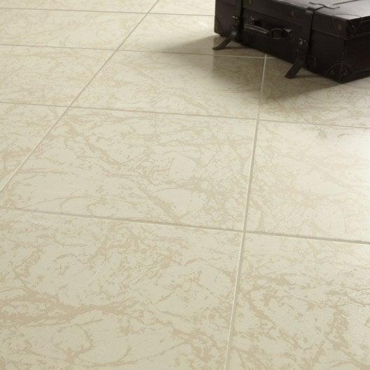 Carrelage sol et mur travertino effet marbre polaire for Glissance carrelage