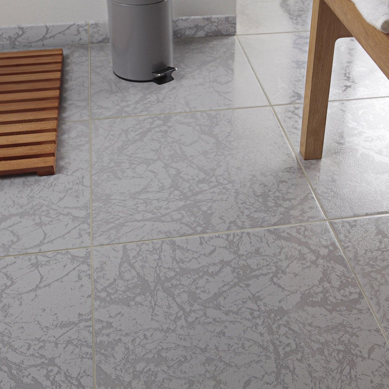 Carrelage Sol Et Mur Gris Effet Marbre Polaire L 44 7 X L 44 7 Cm