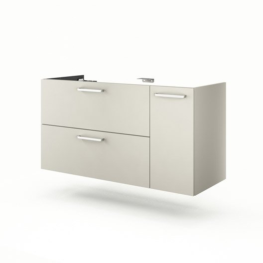 meuble sous vasque x x cm beige neo line leroy merlin. Black Bedroom Furniture Sets. Home Design Ideas