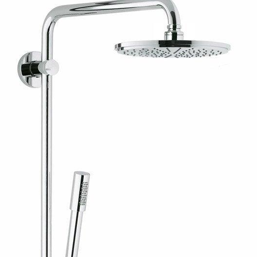 colonne de douche et bain sans robinetterie grohe rainshower 210 leroy merlin. Black Bedroom Furniture Sets. Home Design Ideas