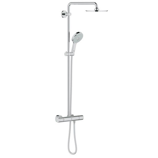 colonne de douche avec robinetterie grohe rainshower 210 power leroy merlin. Black Bedroom Furniture Sets. Home Design Ideas