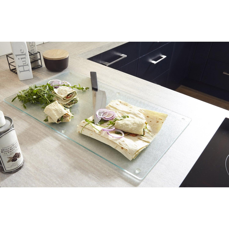 Planche d couper en verre pour plan de travail leroy for Planche pour plan de travail cuisine
