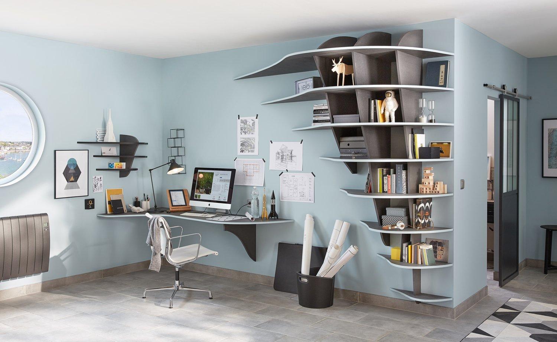 la biblioth que et le radiateur sont id alement coordonn s leroy merlin. Black Bedroom Furniture Sets. Home Design Ideas