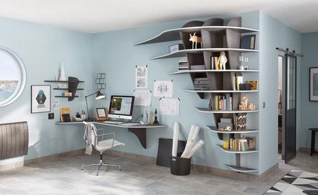 La bibliothèque et le radiateur sont idéalement coordonnés
