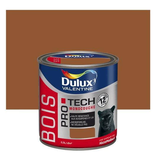 peinture bois ext rieur protech dulux valentine teck 0 5 l leroy merlin. Black Bedroom Furniture Sets. Home Design Ideas