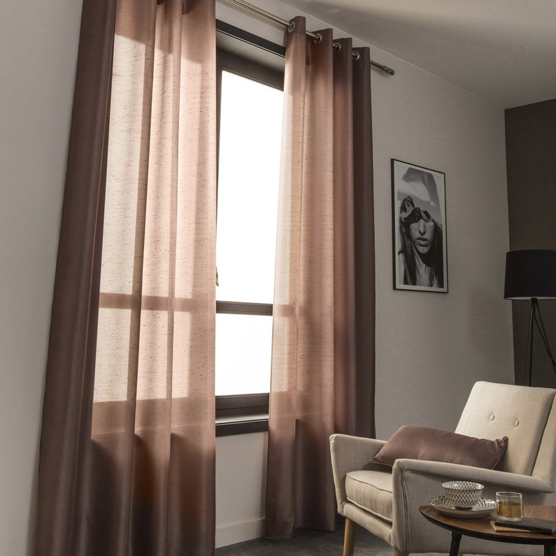 support tringle rideau chic 20 mm chrom bross inspire leroy merlin. Black Bedroom Furniture Sets. Home Design Ideas