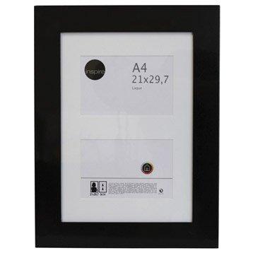 Cadre Laqué, 21 x 29.7 cm, noir-noir n°0