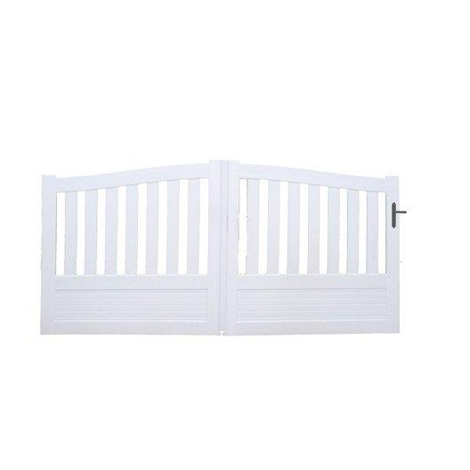 portail coulissant pvc questembert naterial blanc 350x140cm leroy merlin. Black Bedroom Furniture Sets. Home Design Ideas