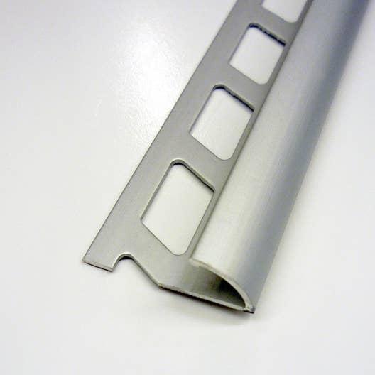 1 4 de rond carrelage sol aluminium anodis l 2 5 m x mm leroy merlin. Black Bedroom Furniture Sets. Home Design Ideas