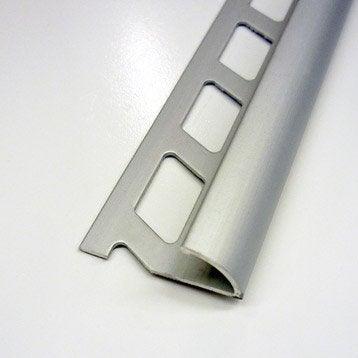 Quart-de-rond carrelage sol, aluminium anodisé L.2.5 m x Ep.12.5 mm