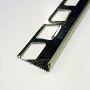 Equerre de finition carrelage sol, inox L.2.5 m x Ep.12.5 mm