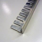 Equerre de finition carrelage sol, aluminium brut L.2.5 m x Ep.10 mm
