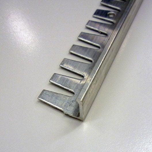 Equerre en aluminium brut inox 2 5 m x 12 5 mm leroy for Profile carrelage inox