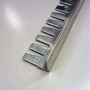 Equerre de finition carrelage sol, aluminium brut L.2.5 m x Ep.12.5 mm