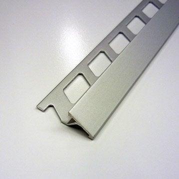 Transition carrelage sol, aluminium anodisé L.2.5 m x Ep.10 mm