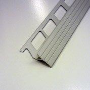 Transition carrelage sol, aluminium anodisé L.1 m x Ep.12.5 mm