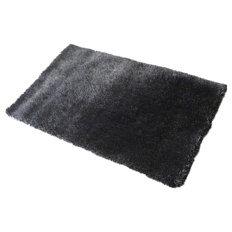Tapis noir rectangulaire, l.160 x L.230 cm Love