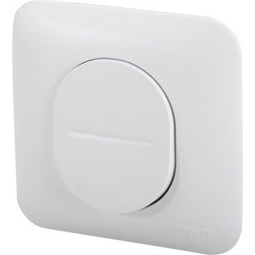 Poussoir Ovalis, blanc, SCHNEIDER ELECTRIC