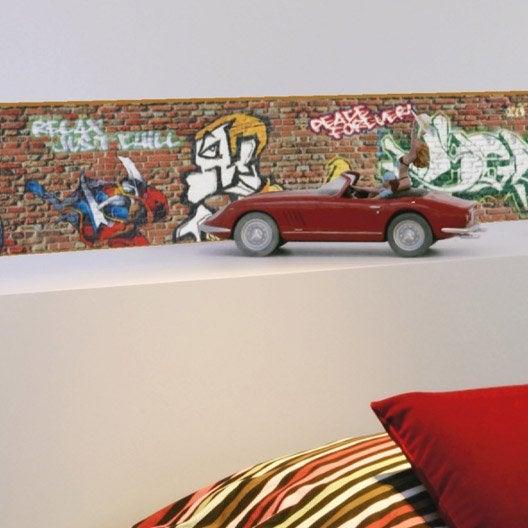 Frise vinyle adhésive Graffiti L.5 m x l.11.6 cm