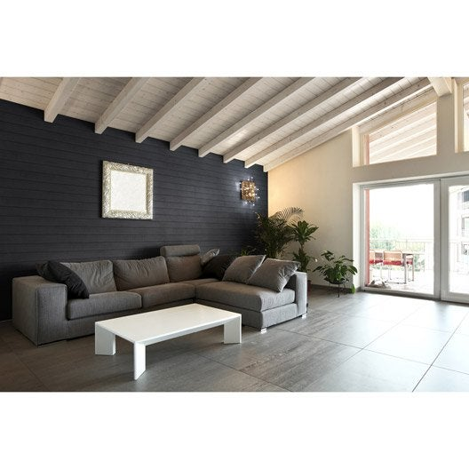 3 panneaux isolants d coratifs thermart woodie grey 110mm - Panneaux decoratif leroy merlin ...
