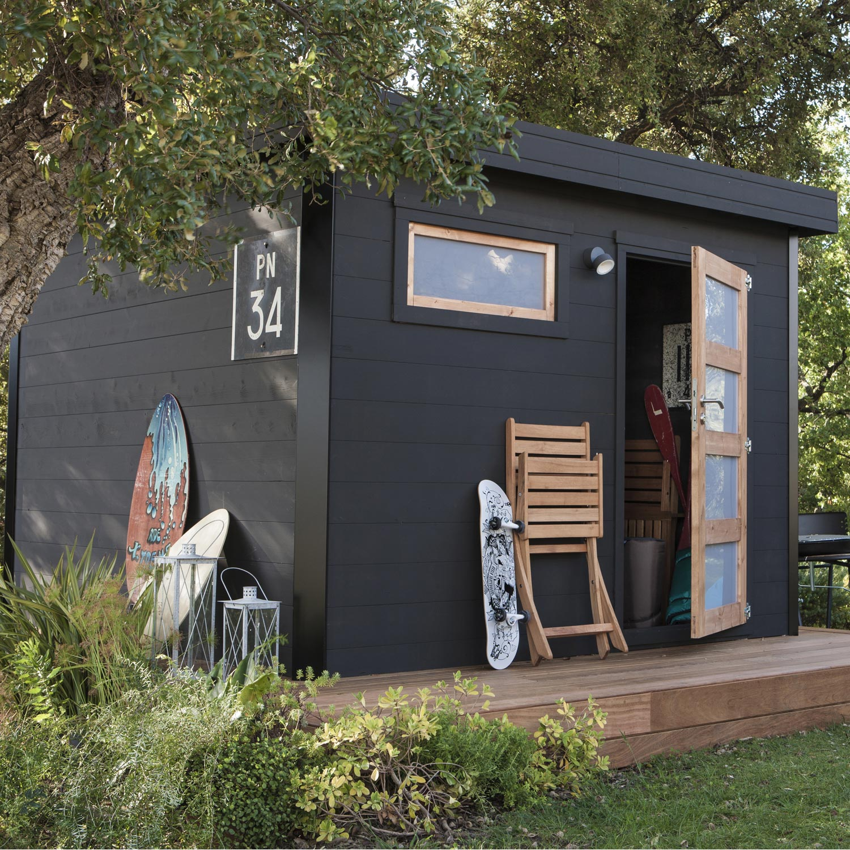 Abri de jardin bois Elite, 8.2 m² Ep.28 mm | Leroy Merlin