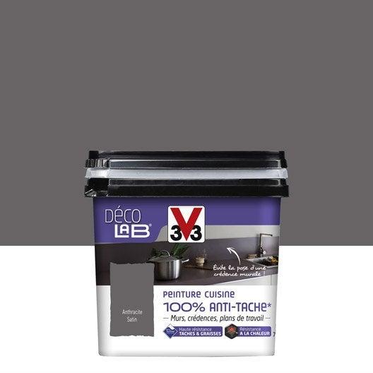 Peinture Décolab 100% antitâches V33, gris anthracite, 075L