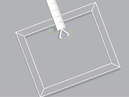 elegant si le cadre saccroche par un anneau mesurez la distance comprise entre son bord suprieur. Black Bedroom Furniture Sets. Home Design Ideas