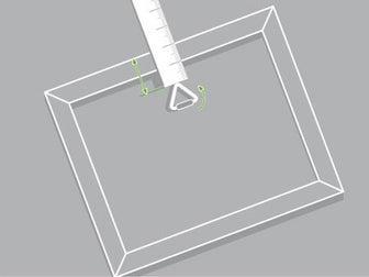 Comment poser un cadre et un miroir leroy merlin - Attache pour cadre photo ...