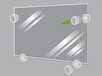 Comment poser un cadre et un miroir leroy merlin for Miroir mural sans cadre