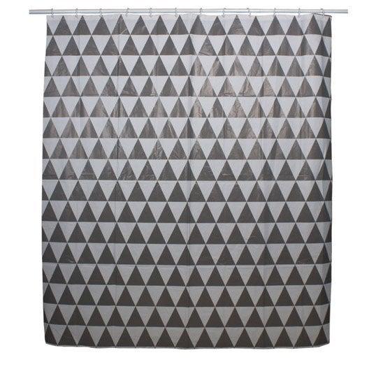 rideau de douche en plastique x cm gris galet n 3 arlequin sensea leroy merlin. Black Bedroom Furniture Sets. Home Design Ideas