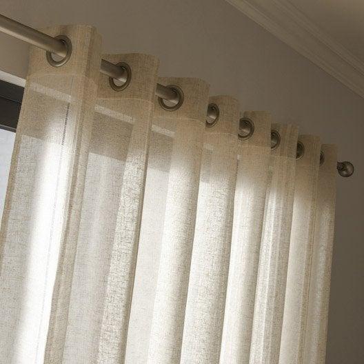 voilage grande largeur jour lin naturel x cm. Black Bedroom Furniture Sets. Home Design Ideas