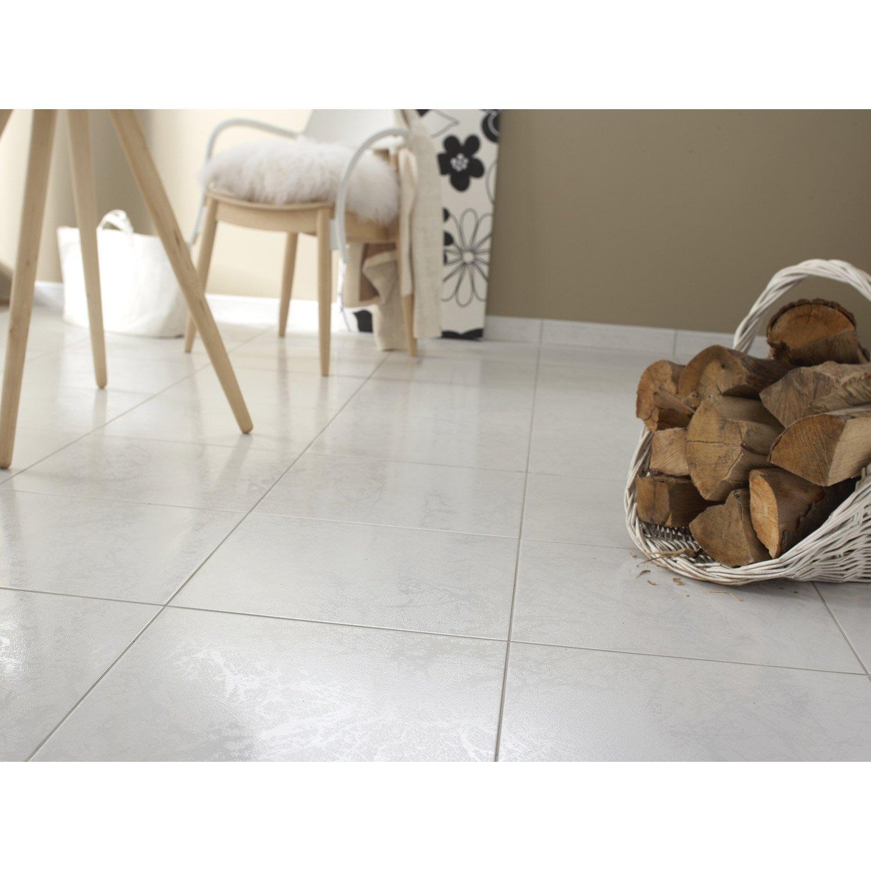 Carrelage Sol Et Mur Blanc Effet Marbre Polaire L X L Cm - Carrelage blanc brillant
