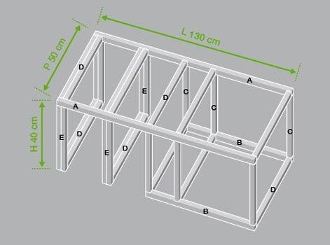 r aliser un banc coffre de rangement leroy merlin. Black Bedroom Furniture Sets. Home Design Ideas