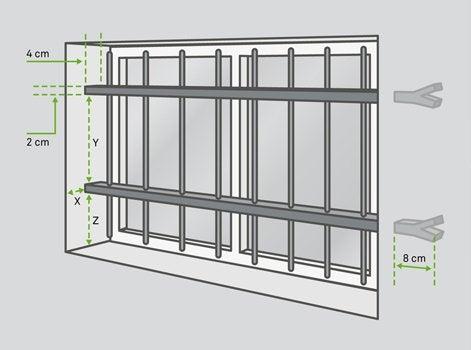 poser des grilles de d fense leroy merlin. Black Bedroom Furniture Sets. Home Design Ideas