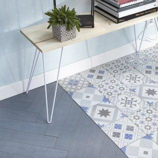 un effet carreaux de ciment dans ma cuisine leroy merlin. Black Bedroom Furniture Sets. Home Design Ideas