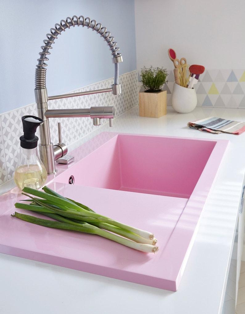 Un évier à Encastrer Rose Pour égayer La Cuisine
