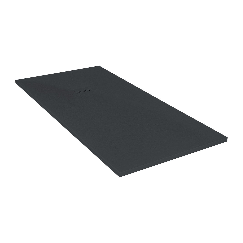 Receveur de douche extraplat rectangulaire x cm r sine noir leroy merlin - Receveur de douche 160 x 80 ...
