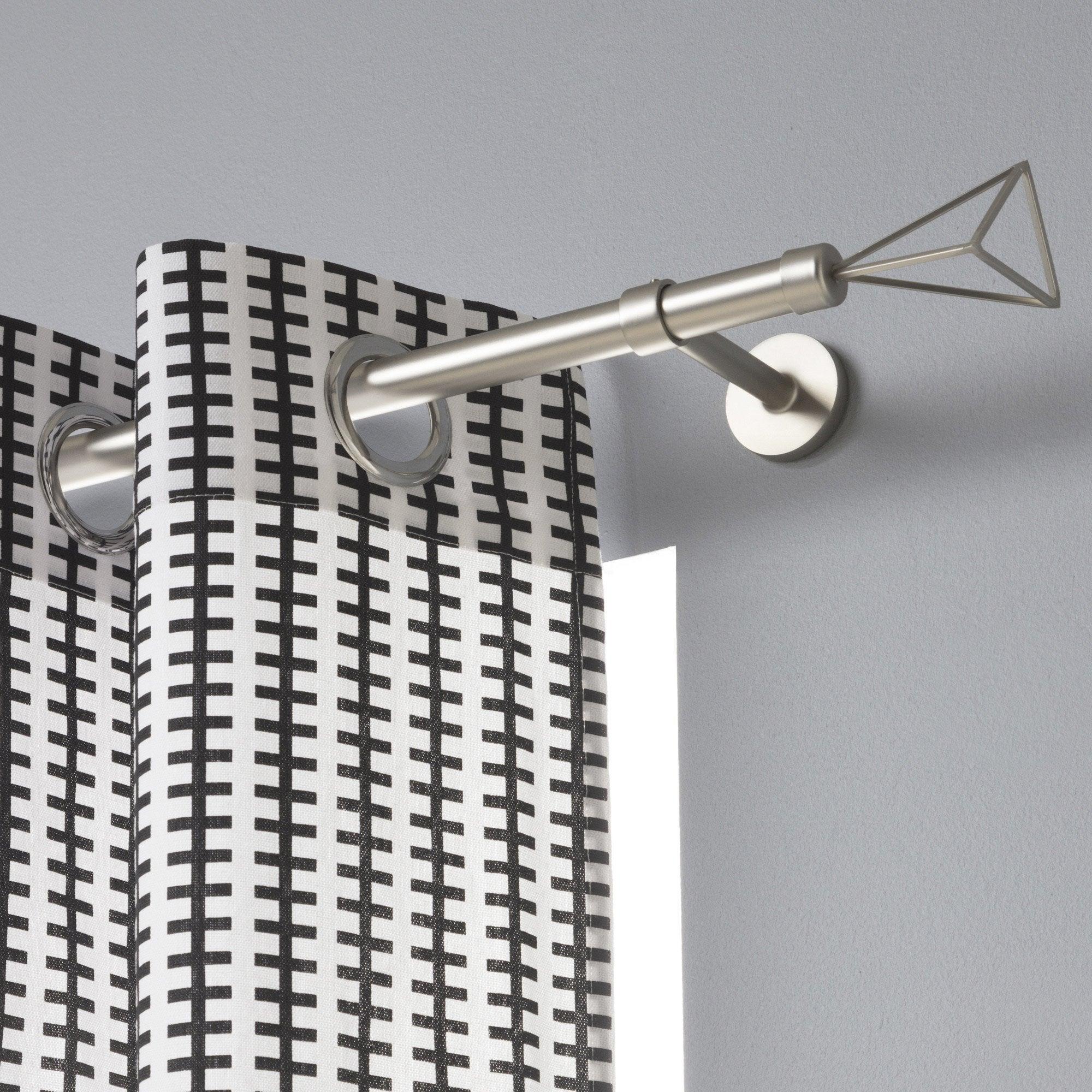 Tringle à rideau Design gris mat, diam. 20 mm 250 cm INSPIRE