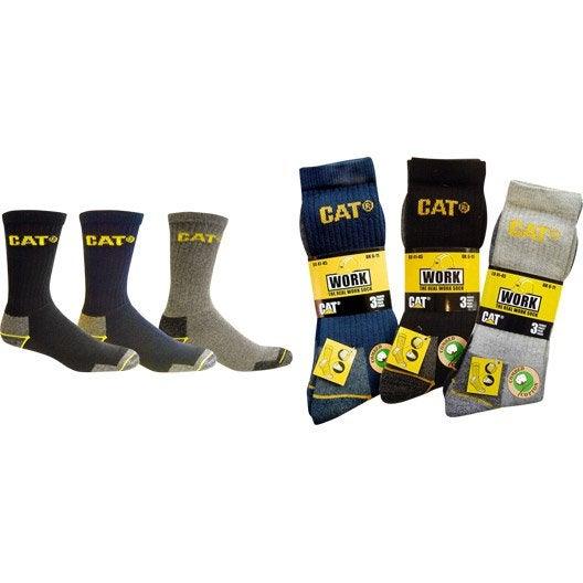 Lot de 3 paires de chaussettes de travail caterpillar c - Vetement de travail leroy merlin ...