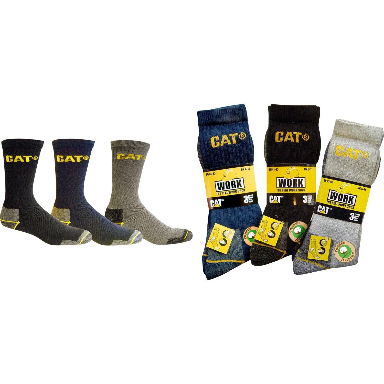05a7e472dec Lot de 3 paires de chaussettes de travail CATERPILLAR