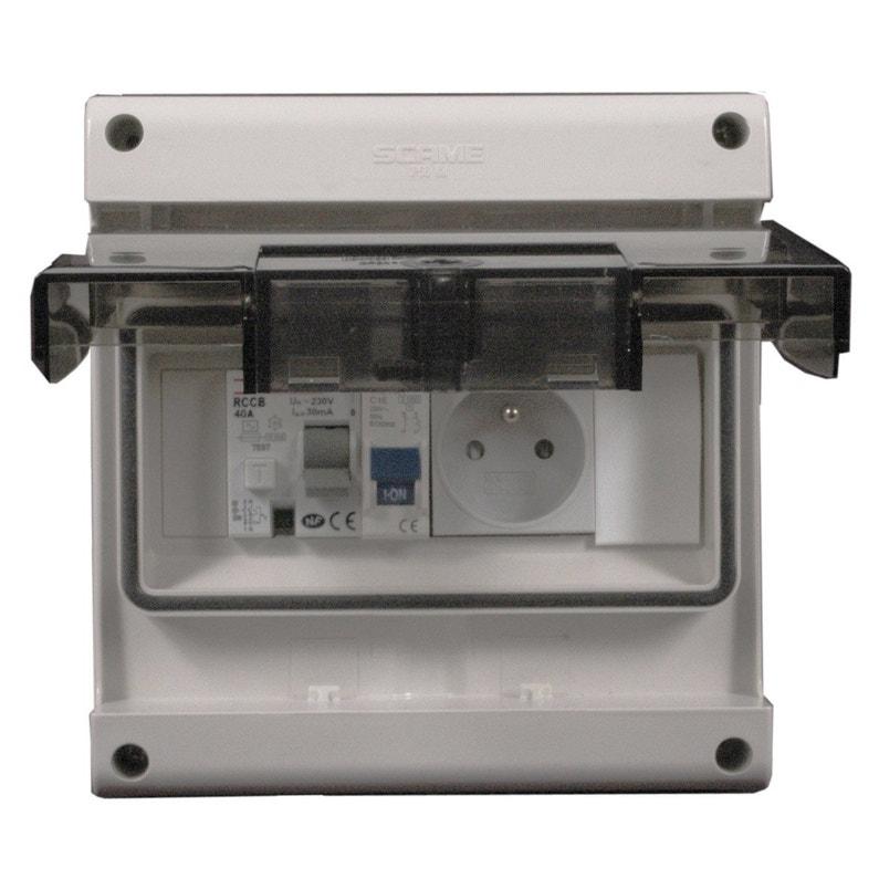 Tableau électrique équipé Et Précâblé Etanche Debflex 1 Rangée 8 Modules