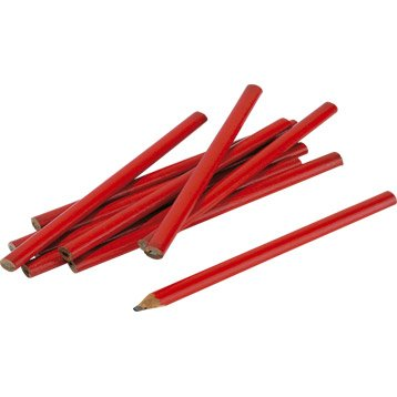 Lot de 12 crayons de menuisier