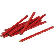 Lot de 12 crayons de menuisier