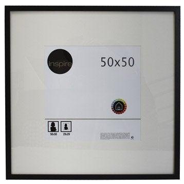 Cadre Lario, 50 x 50 cm, noir-noir n°0