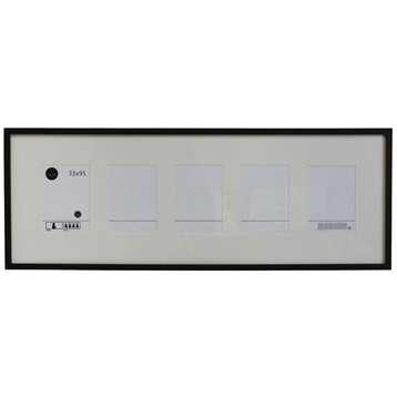 Cadre Lario, 33 x 95 cm, noir-noir n°0