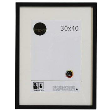Cadre bois INSPIRE Lario, 30 x 40 cm, noir noir n°0