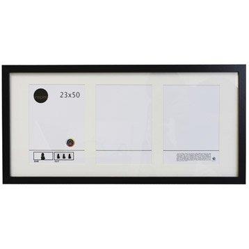 cadre bois inspire lario 23 x 50 cm noir noir n 0. Black Bedroom Furniture Sets. Home Design Ideas