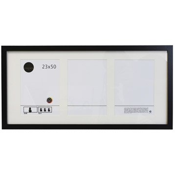 Cadre Lario, 23 x 50 cm, noir-noir n°0