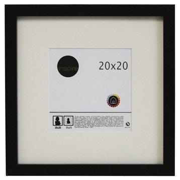 Cadre Lario, 20 x 20 cm, noir-noir n°0