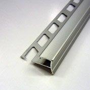 Nez de marche décoratif en aluminium brut, chromé, 2.5 m x 10 mm